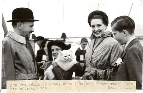 Major Simon Whitbread, President of the Sandy Show with wife, Helen and son Samuel   late1940s